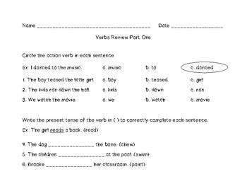 Verbs Review Part 1