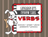 Verbs - Review Tabs (action, adverbs, past tense, present tense, future tense)