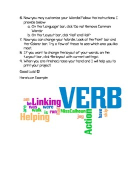 Verbs Review - WORDLE Project