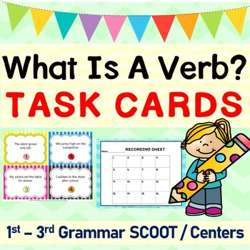 Verbs Grammar SCOOT or Task Cards