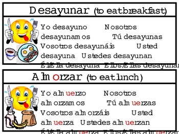 Verbs Signs Present Tense and Flashcards