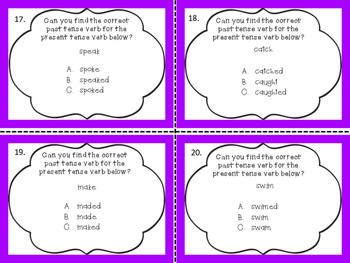 Verbs Task Cards
