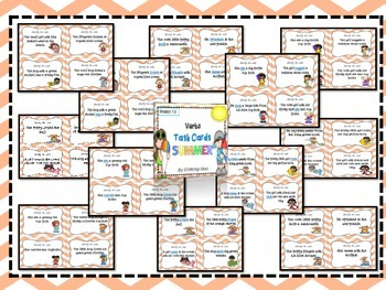 Summer Theme Verb Task Cards