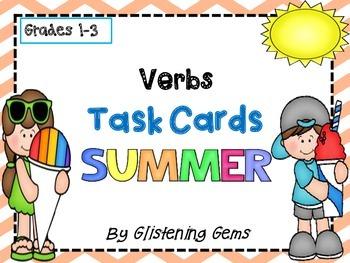 Summer Theme Verb Task Cards