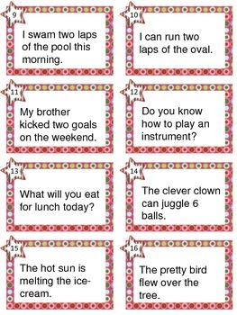 Verbs - Task cards activity