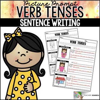 Verb Tenses Worksheets Sentence Building Writing Center