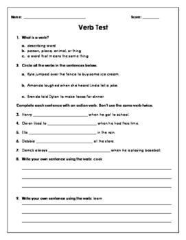 Verbs Test