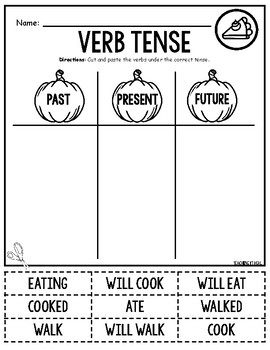 Verbs - Thanksgiving Edition