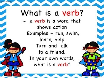 Verbs:  7 activities to Identify Verbs with the The Verb Superheroes!  Gr 1 - 3