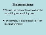 Verbs / The present tense