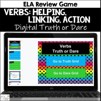 Verbs Truth or Dare ELA Game for Google Classroom