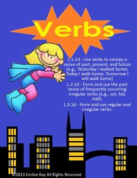 Verbs Unit {Common Core Aligned}