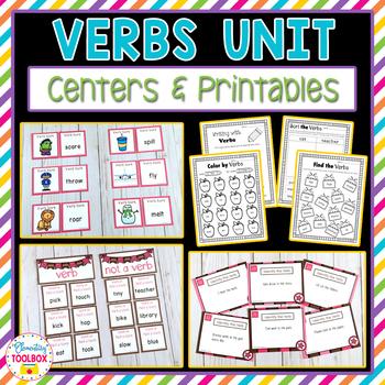 Verbs Unit (Kindergarten-2nd Grade)