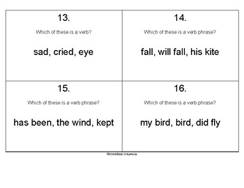 Verbs & Verb Phrases Scoot