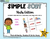 Verbs, Verb Tenses Sorting Cards