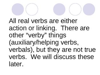 Verbs, Verbs, Verbs