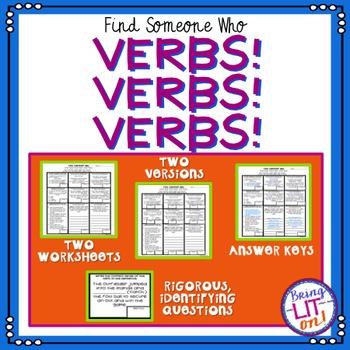 Verbs! Verbs! Verbs! - Find Someone Who