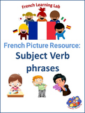 French Vocabulary Picture Resource Verbs - phrases in French