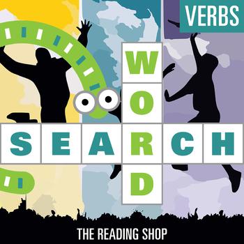 Verbs Word Search - Primary Grades - Wordsearch Puzzle