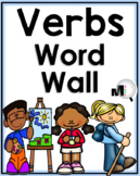 Verbs Word Wall - 100 Illustrated Action Verbs