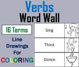 Verbs Word Wall Cards