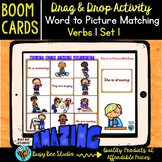 Verbs   Boom Cards   Verb to Picture Matching Game   Set # 1