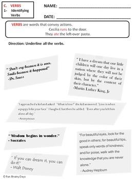 Verbs Worksheets