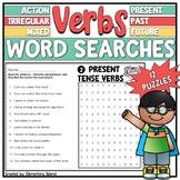 Verbs Worksheets   Irregular Past Tense, Action Verbs, Past Present Future