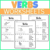 Verbs Worksheets for 1st and 2nd Grade