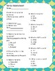 Verbs Worksheet