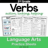 Verbs Worksheets (action, helping, linking)