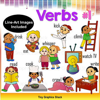 Verbs and Actions Clip Art #1