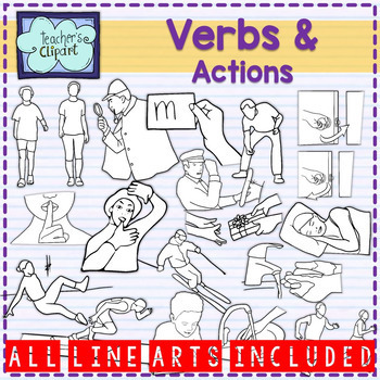 Verbs and Actions clipart BUNDLE