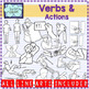 Verbs and Actions clipart GROWING BUNDLE