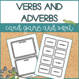 Verbs and Adverbs | Card Sort and Game | Distance Learning