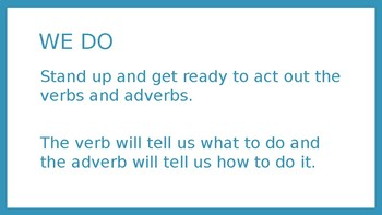 Verbs and Adverbs PowerPoint