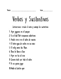 Nouns and Verbs Spanish