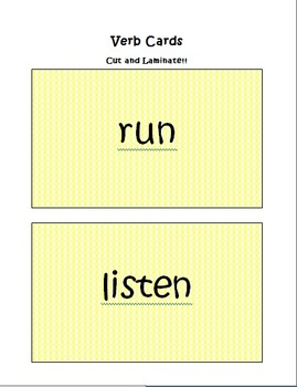 Verbs and Nouns Lesson