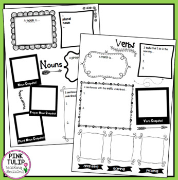 Verbs, Nouns, Adjectives, Adverbs, Conjunctions Reflection - Student Posters