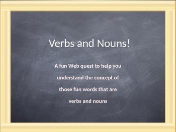 Verbs and Nouns Webquest