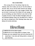 Verbs and Transition Words: Identification and Writing Practice