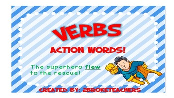 Verbs and Verb Tense Mini-Lessons and Activity
