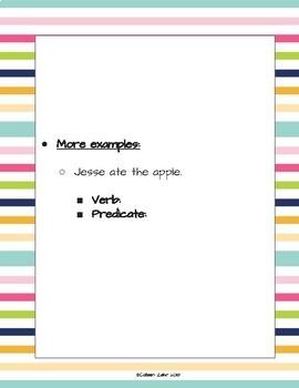 Verbs and Verb Tenses Freebie!