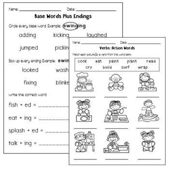 Verbs and endings