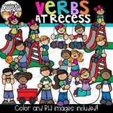 Verbs at Recess Clipart {Verbs Clipart}