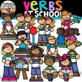 Verbs at School Clipart {School Clipart}