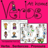 Verbs at Home Activities for Speech and Langauge Therapy