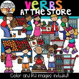 Verbs at the Store Clipart {Verbs Clipart}