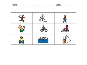 Verbs - bingo/memory/go fish