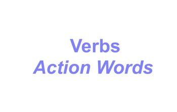 Verbs flip chart